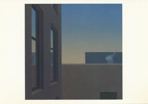 'Institution' by Canadian artist Christopher Pratt, received from Newfoundland, Canada