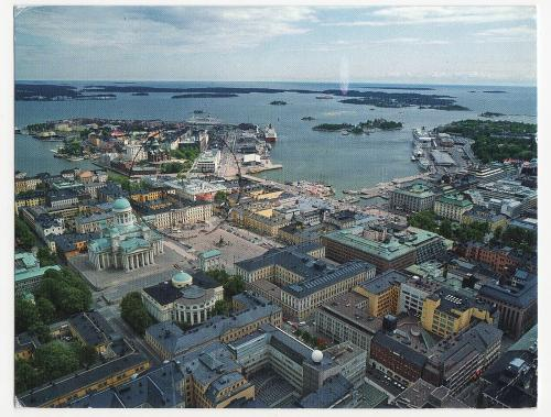 An aerial view of Helsinki, Finland.