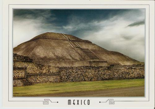 nice postcard showing Pyramid of the Sun in Teotihuacan, Mexico