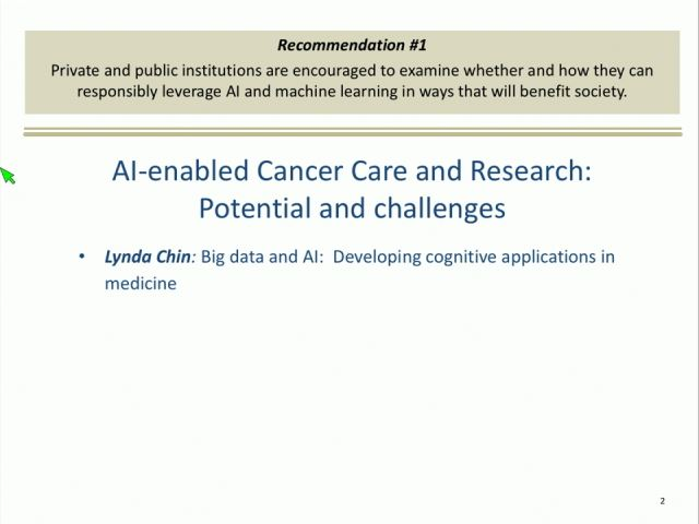 Player: Lynda Chin - Artificial Intelligence-enabled Cancer Care and