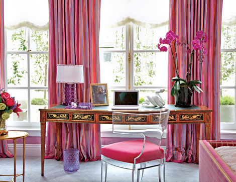 passionate pink home office