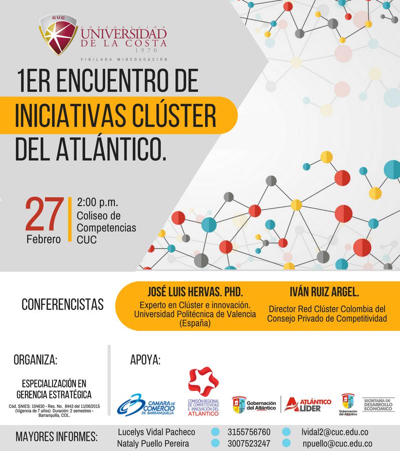 Primer Encuentro de Iniciativas Clúster del Atlántico