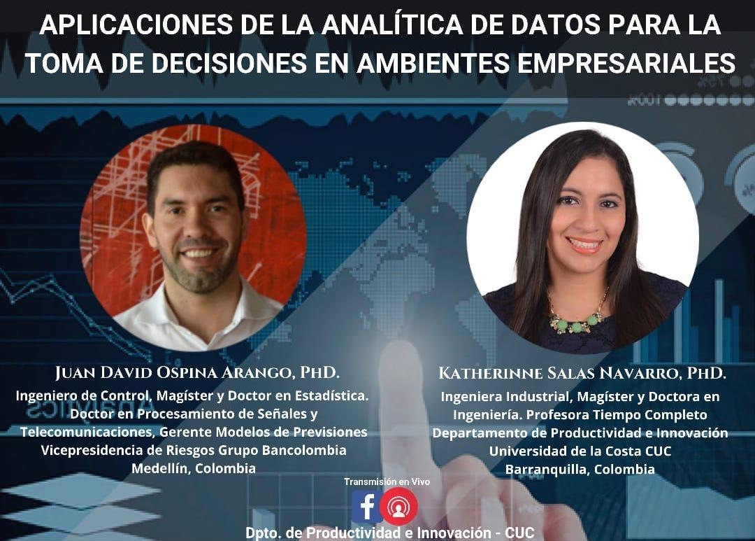 """Webinar """"Aplicaciones de la analítica de datos para la toma de decisiones en ambientes empresariales"""""""