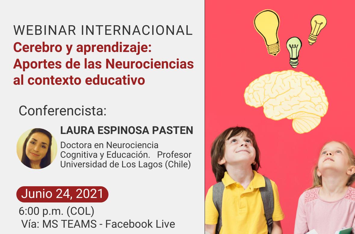 """Webinar internacional """"Cerebro y aprendizaje: aportes de las Neurociencias al contexto educativo"""""""