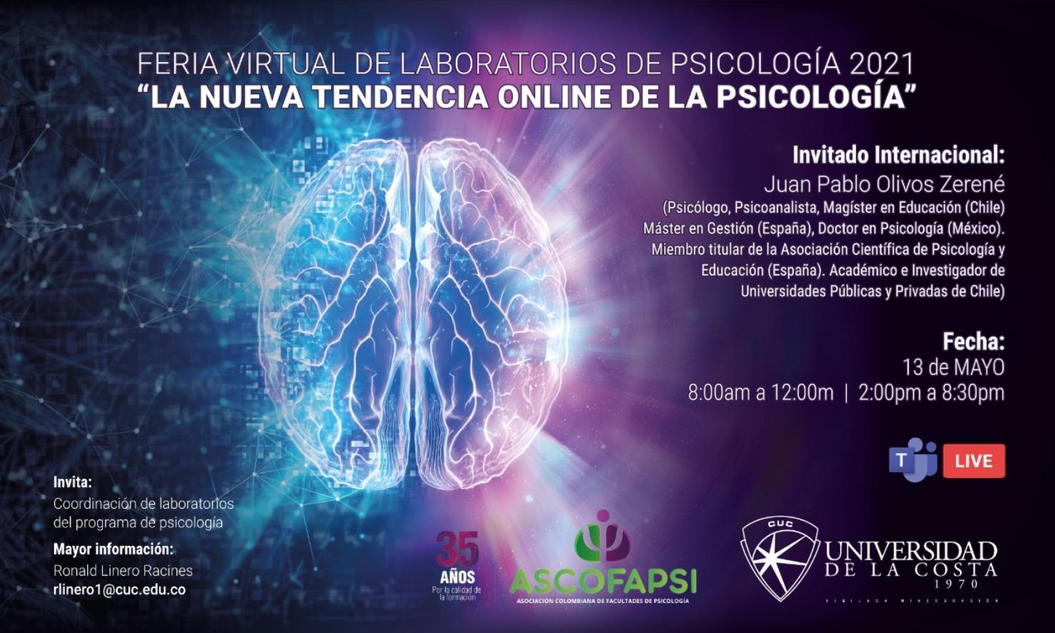 Feria virtual de laboratorios de Psicología 2021