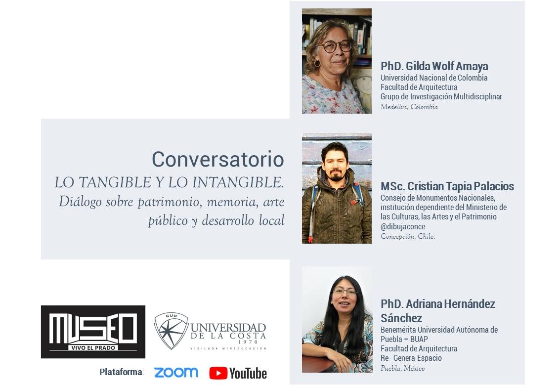 Museo vivo EL Prado : Conversatorio lo tangible y lo intangible