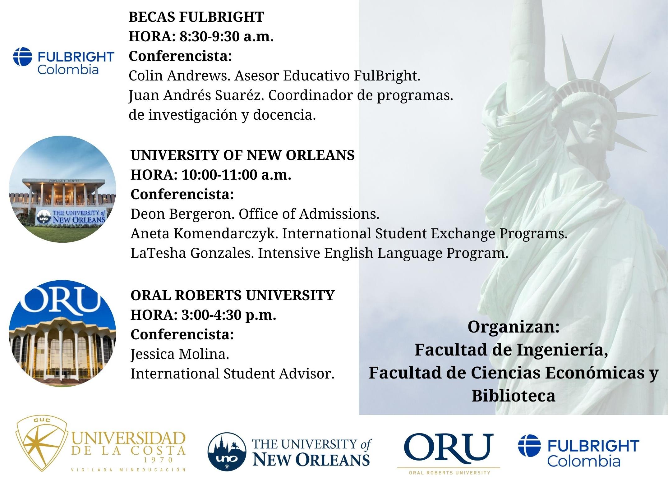 Oportunidades de estudio en universidades de Estados Unidos