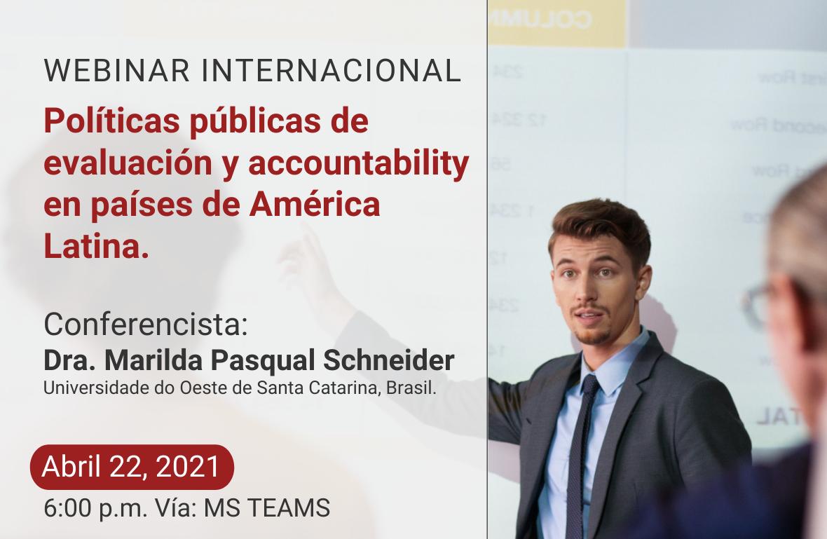 Webinar Internacional: políticas públicas de evaluación y accountability en países de América Latina