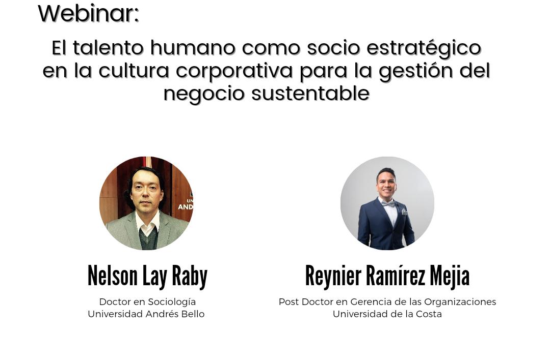 Webinar internacional: El talento humano como socio estratégico en la cultura corporativa para la gestión del negocio sustentable