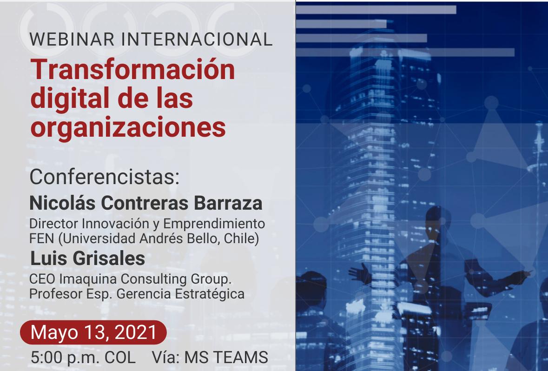 """Webinar internacional """"Transformación digital de las organizaciones"""""""