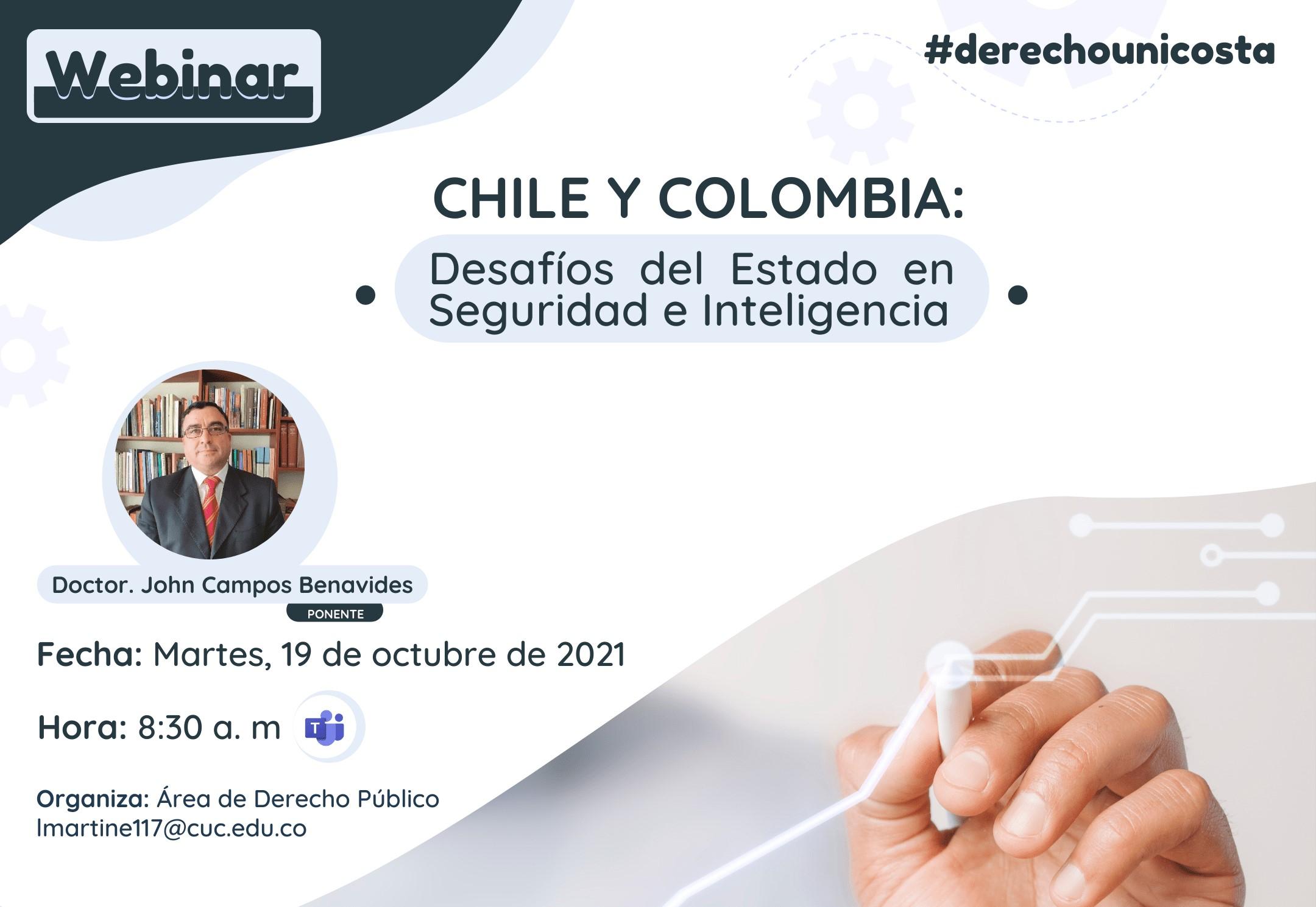 Webinar: Chile y Colombia 'Desafíos del Estado en Seguridad e Inteligencia'