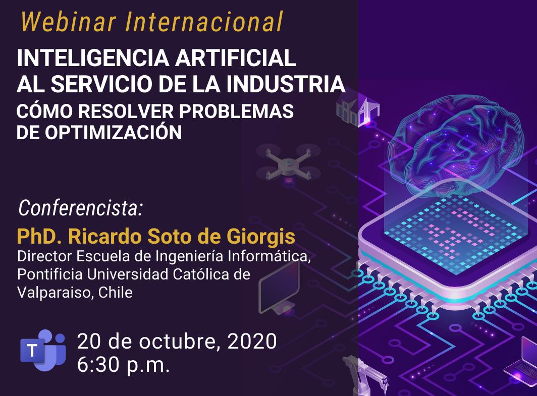 """Webinar internacional """"Inteligencia Artificial al servicio de la Industria. Cómo resolver problemas de optimización"""""""