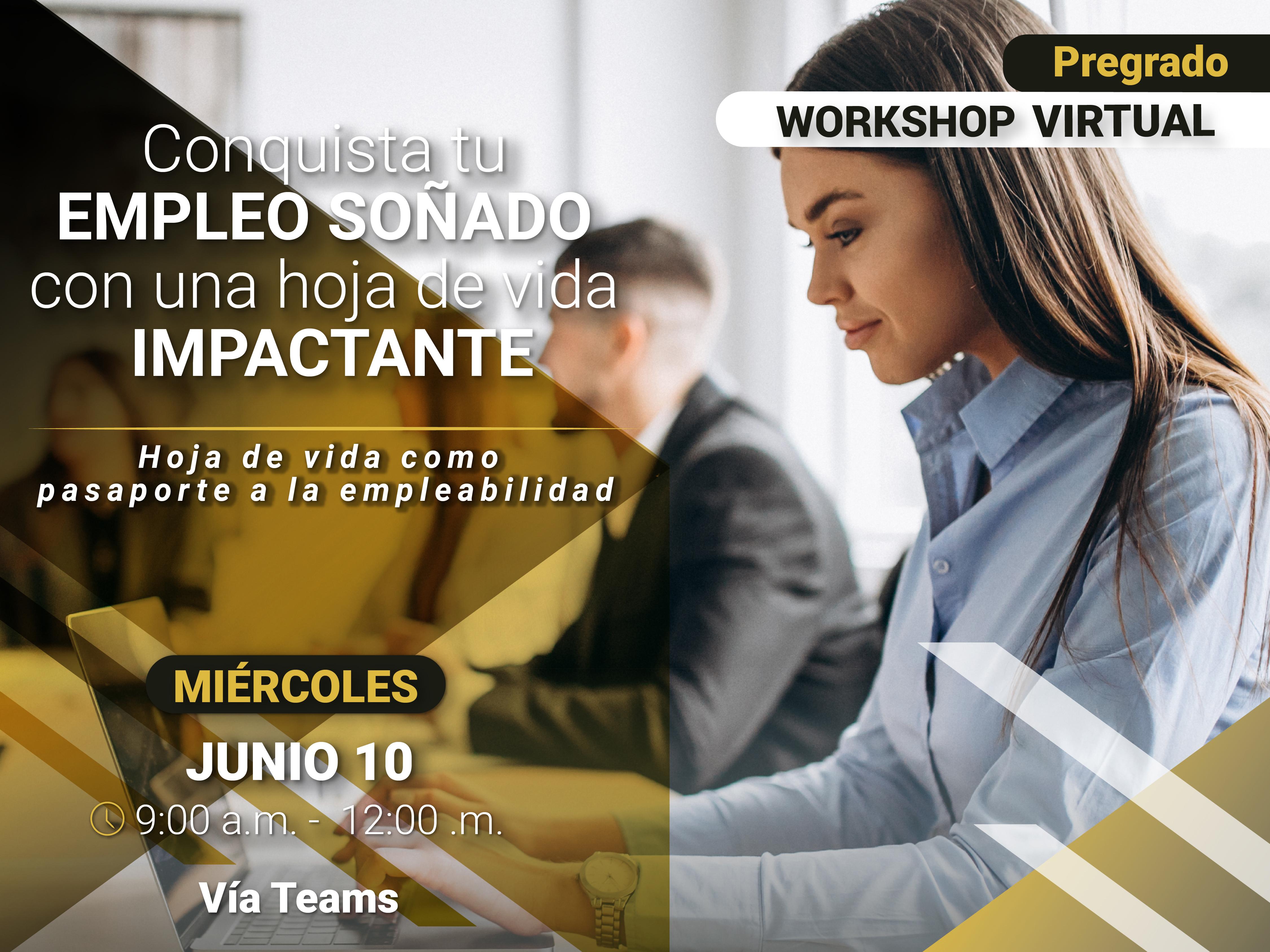 Workshop virtual: Hoja de vida como pasaporte a la empleabilidad