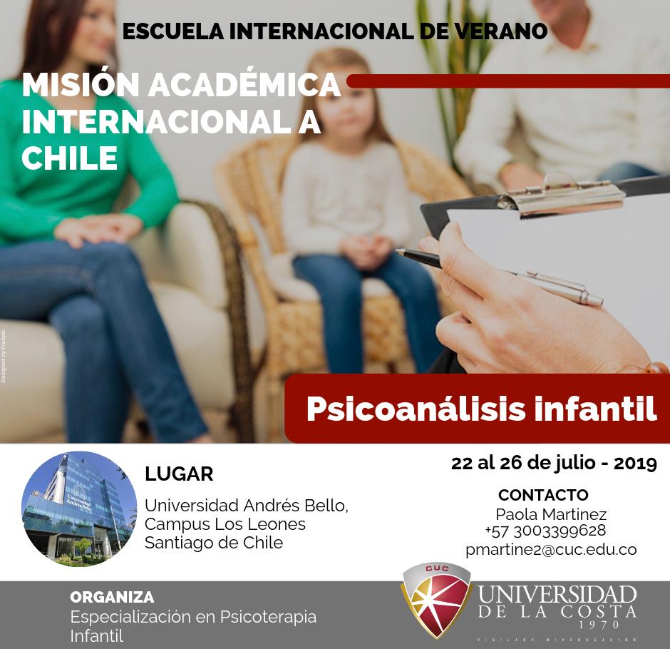 """Misión Académica Internacional a Chile en """"Psicoanálisis infantil"""""""