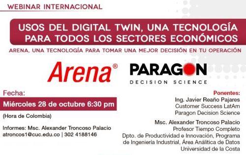 """Webinar internacional """"Usos del Digital Twin, una tecnología para todos los sectores económicos"""""""