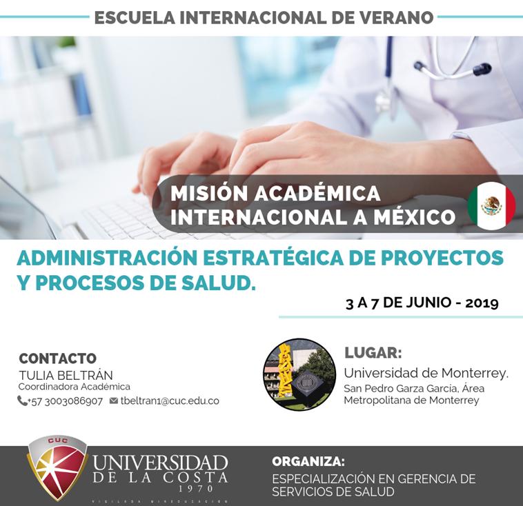 """Misión Académica Internacional """" Administración Estratégica de Proyectos y Procesos en Salud"""""""
