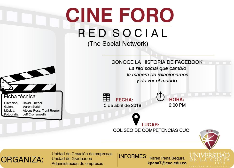 "Primer Cine Foro CUC EMPRENDE ""The Social Network"""