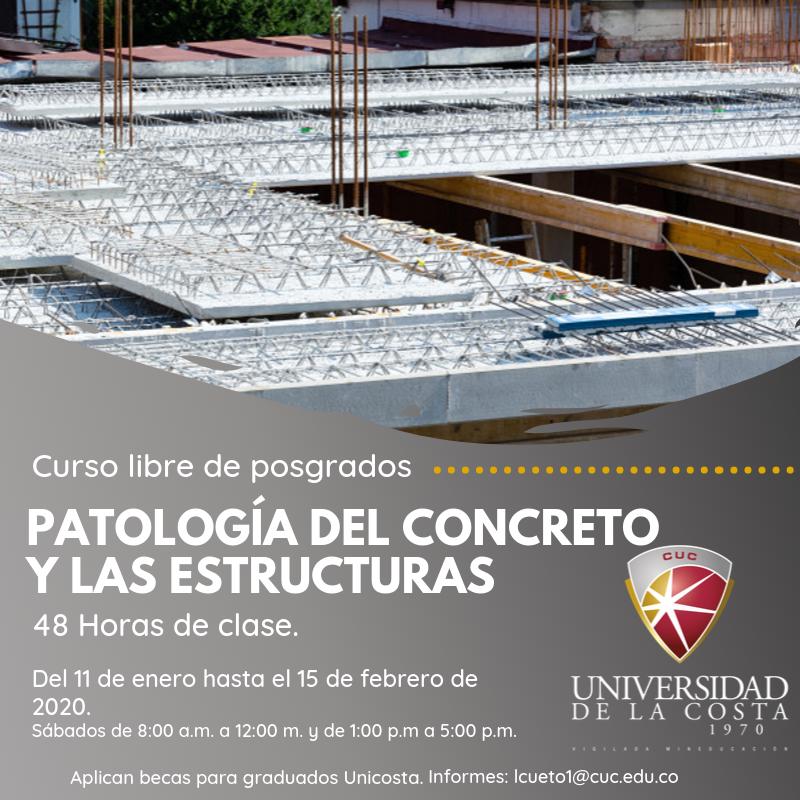 Patología del concreto y las estructuras - Actualiza tus conocimientos con los cursos libres de Posgrado