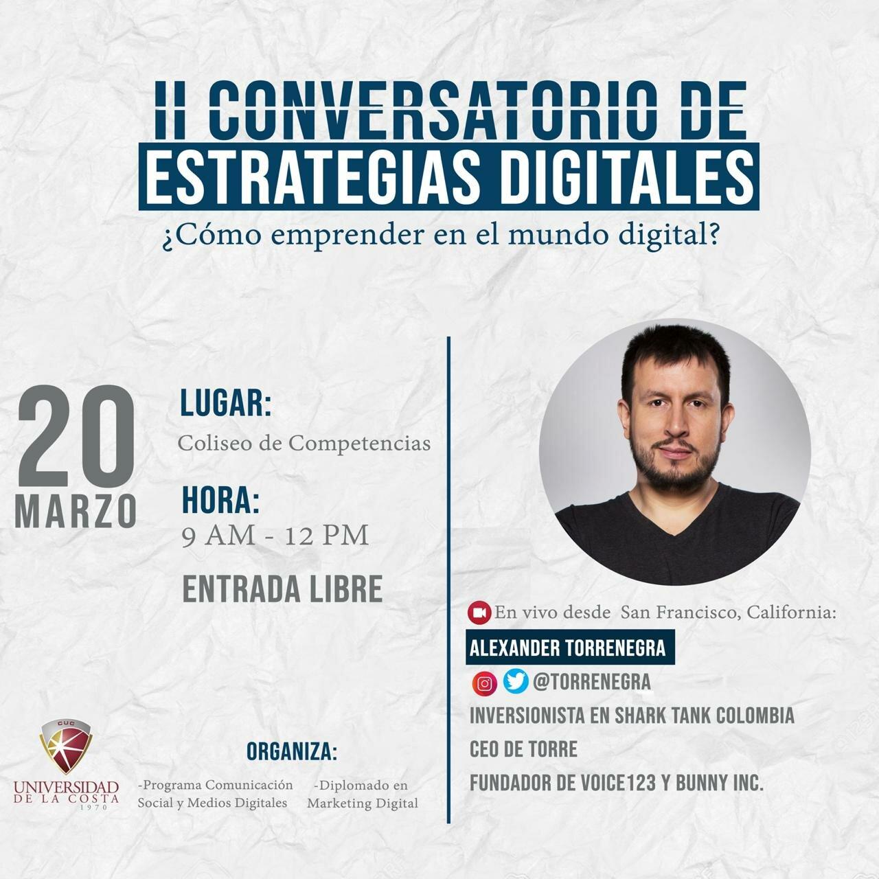 Aprenda cómo emprender en el mundo digital, con Alex Torrenegra
