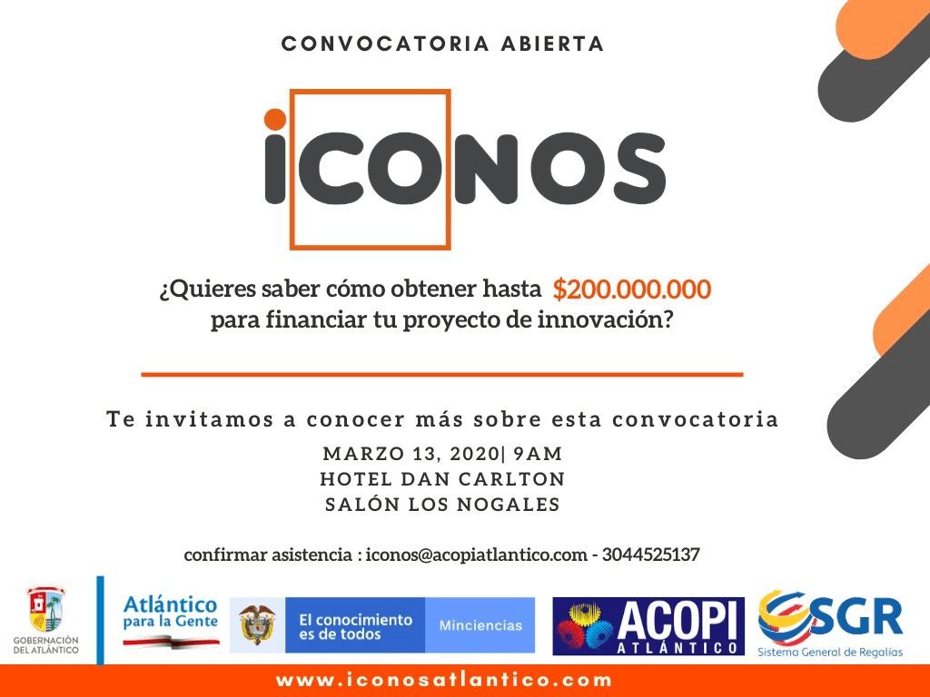 Convocatoria 'Íconos' para proyectos de innovación del Atlántico