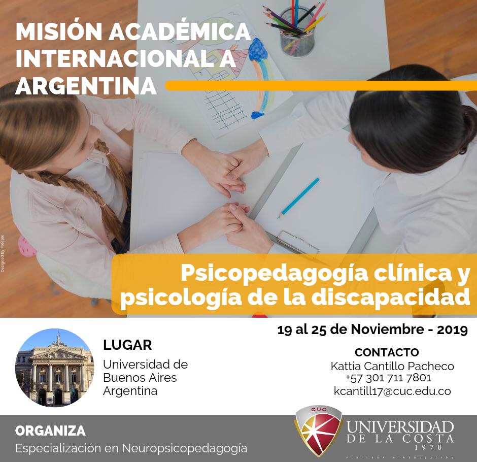 """Misión Académica Internacional """"Psicopedagogía clínica y Psicología de la discapacidad"""