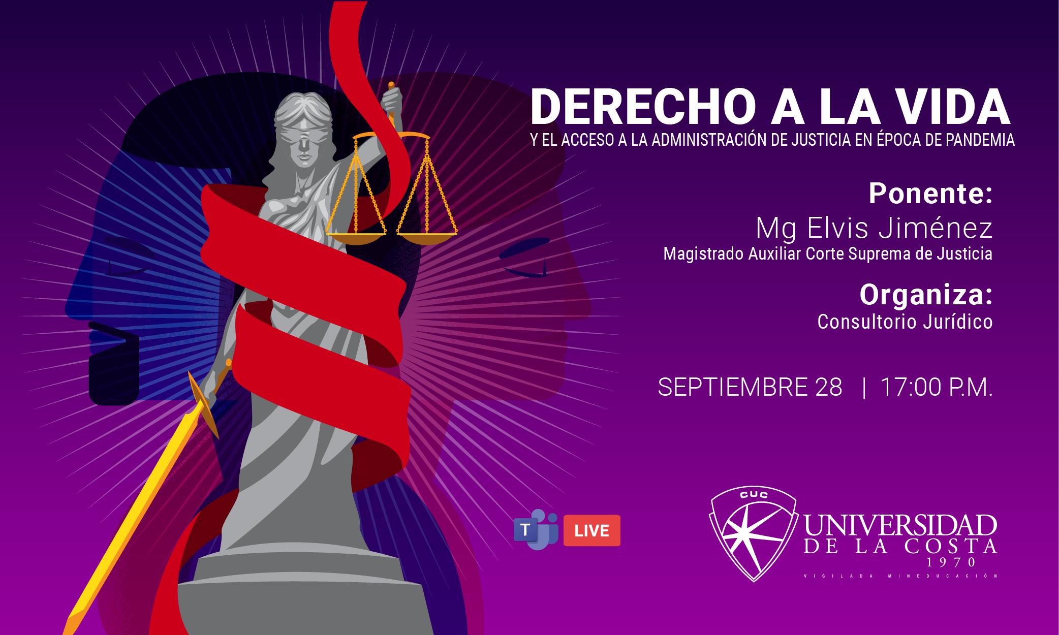 Derecho a la vida y el acceso a la administración de Justicia en época de pandemia