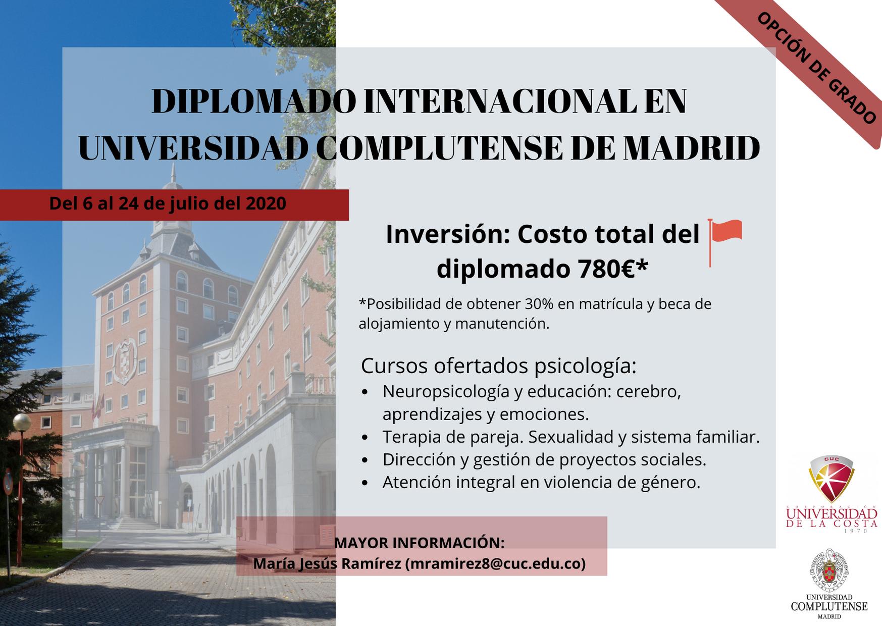 Diplomado Internacional en Universidad Complutense de Madrid