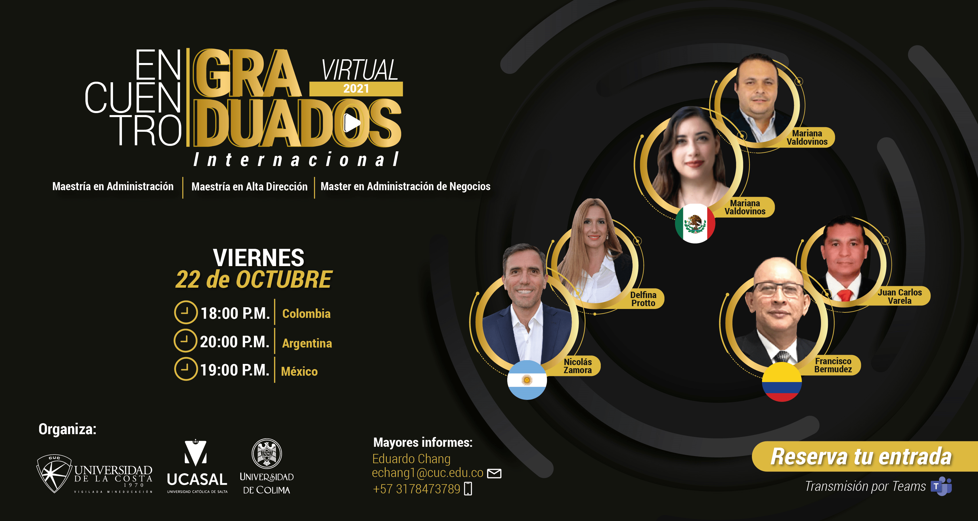 Encuentro de Graduados Internacional de Maestrías de Colombia, Argentina y México