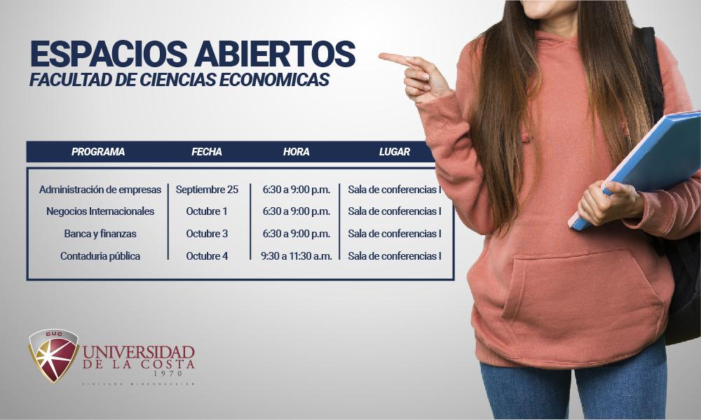 Espacios Abiertos - Facultad de ciencias económicas
