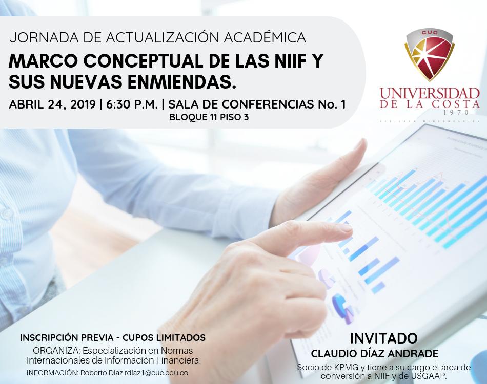 """Jornada de Actualización Académica """"Marco conceptual de las NIIF y sus nuevas enmiendas"""""""