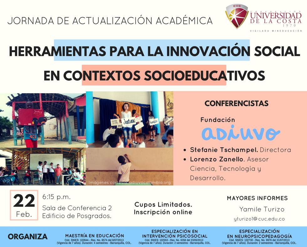 Herramientas para la innovación social en contextos socioeducativos
