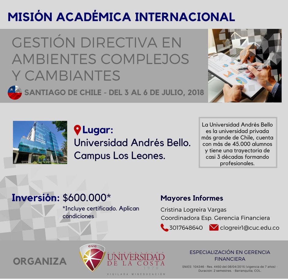 Misión Académica Internacional a la Universidad Andrés Bello en Santiago de Chile
