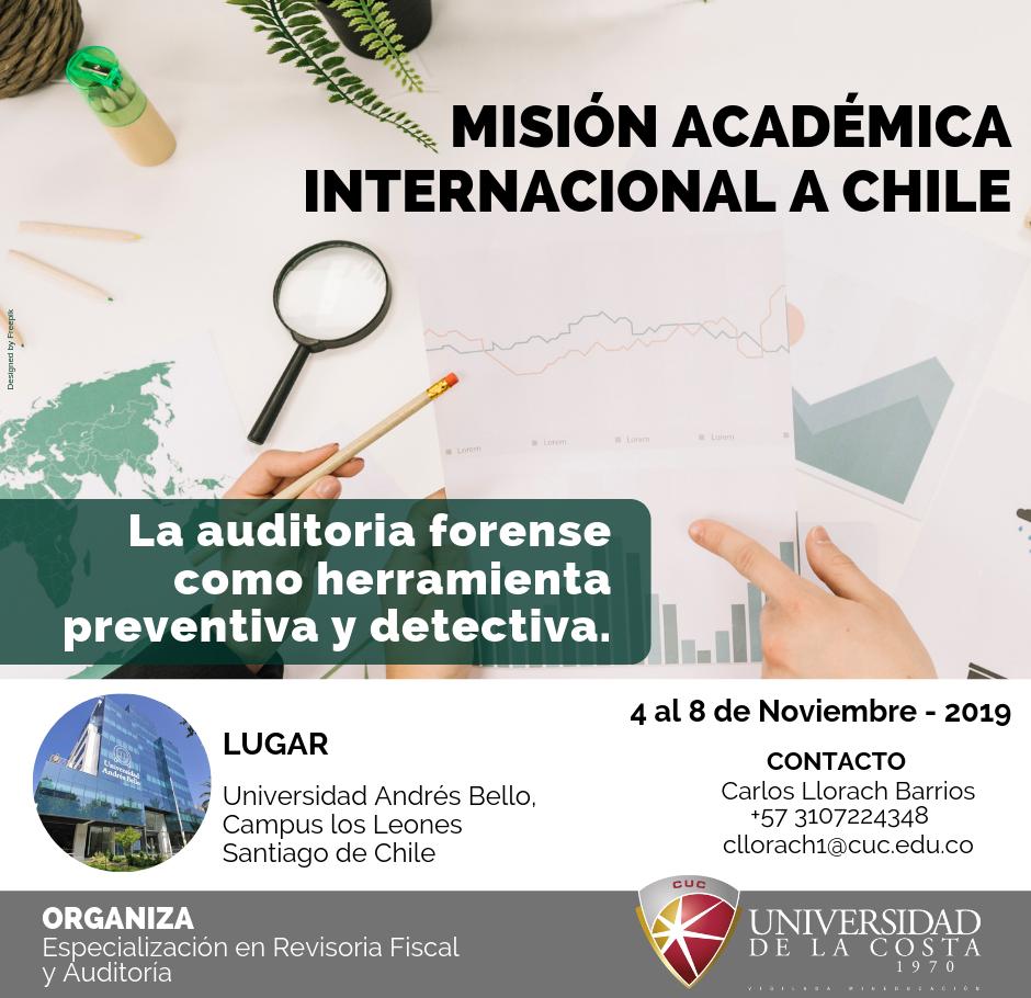 """Misión Académica Internacional """"La auditoría forense como herramienta preventiva y detectiva"""""""