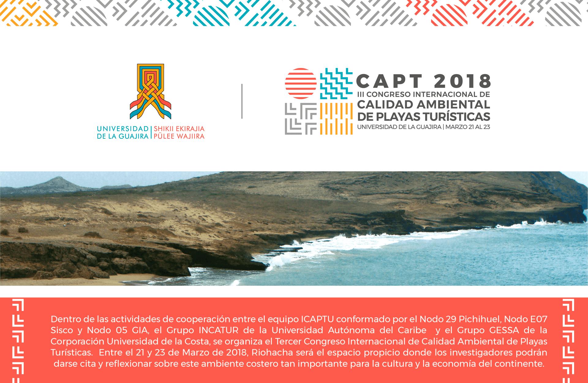 Abiertas las inscripciones al III Congreso Internacional de Calidad Ambiental de Playas Turísticas-CAPT2018