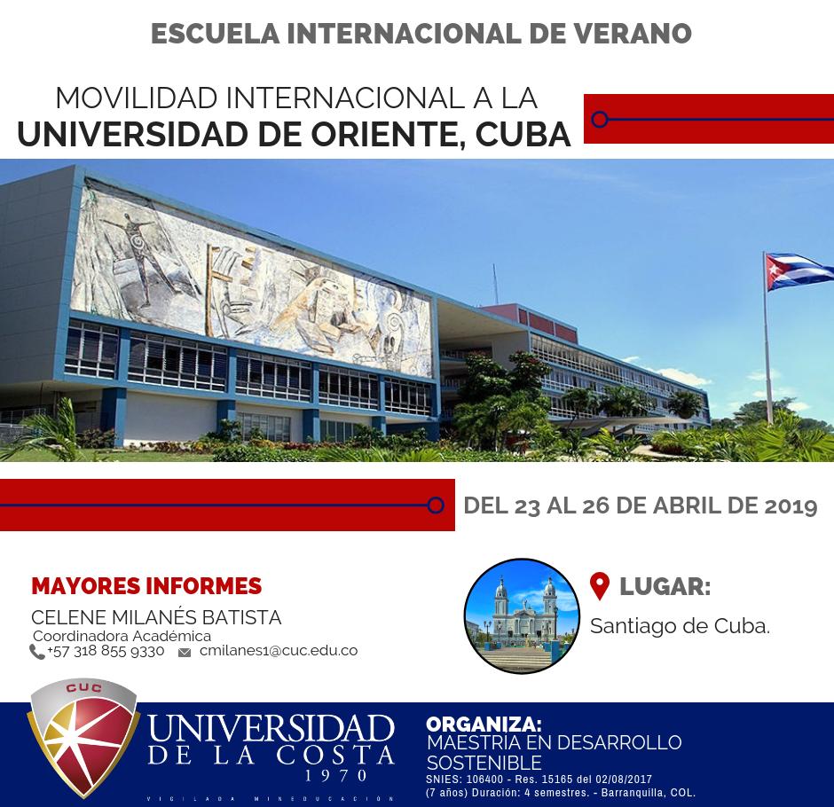 Movilidad internacional la Universidad de Oriente, Cuba