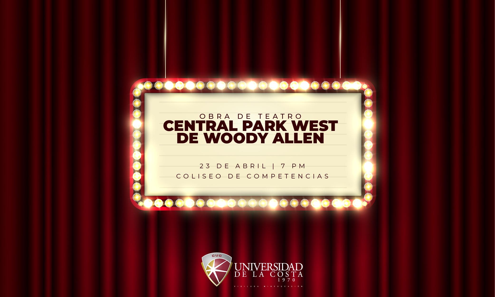 Teatro en Unicosta con 'Central Park West', de Woody Allen