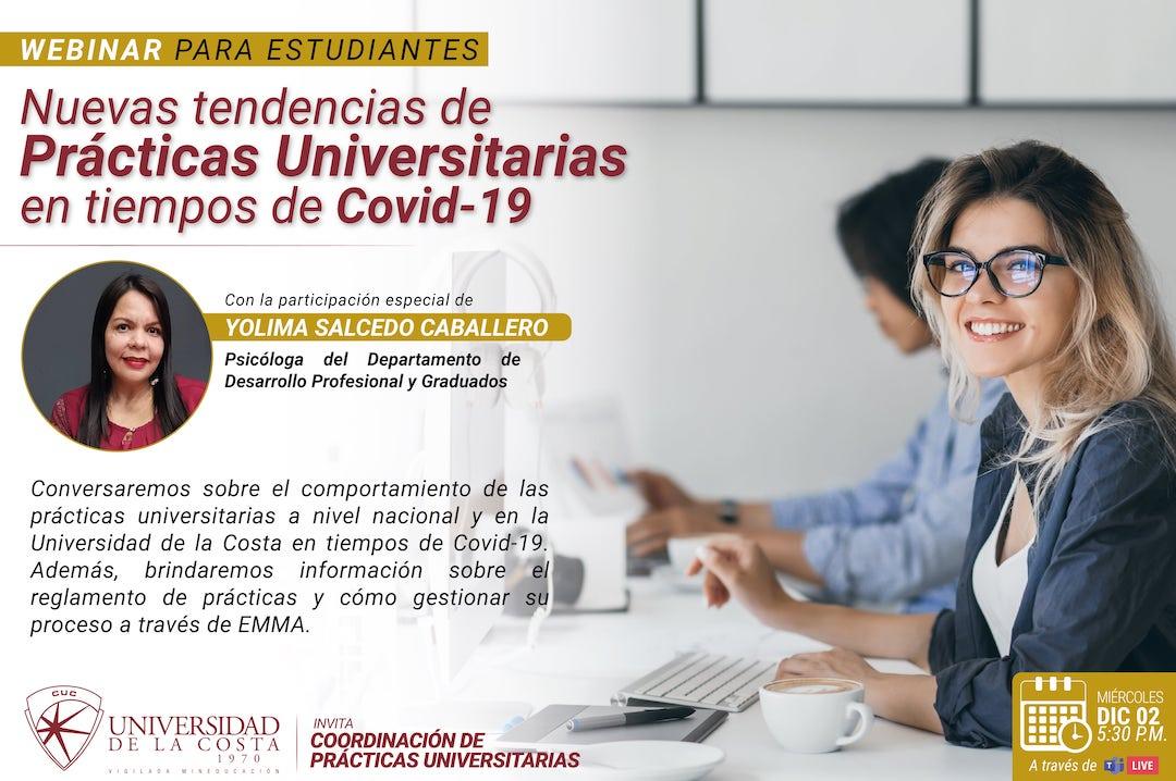 Webinar: Nuevas Tendencias de Prácticas Universitarias en tiempos de Covid-19