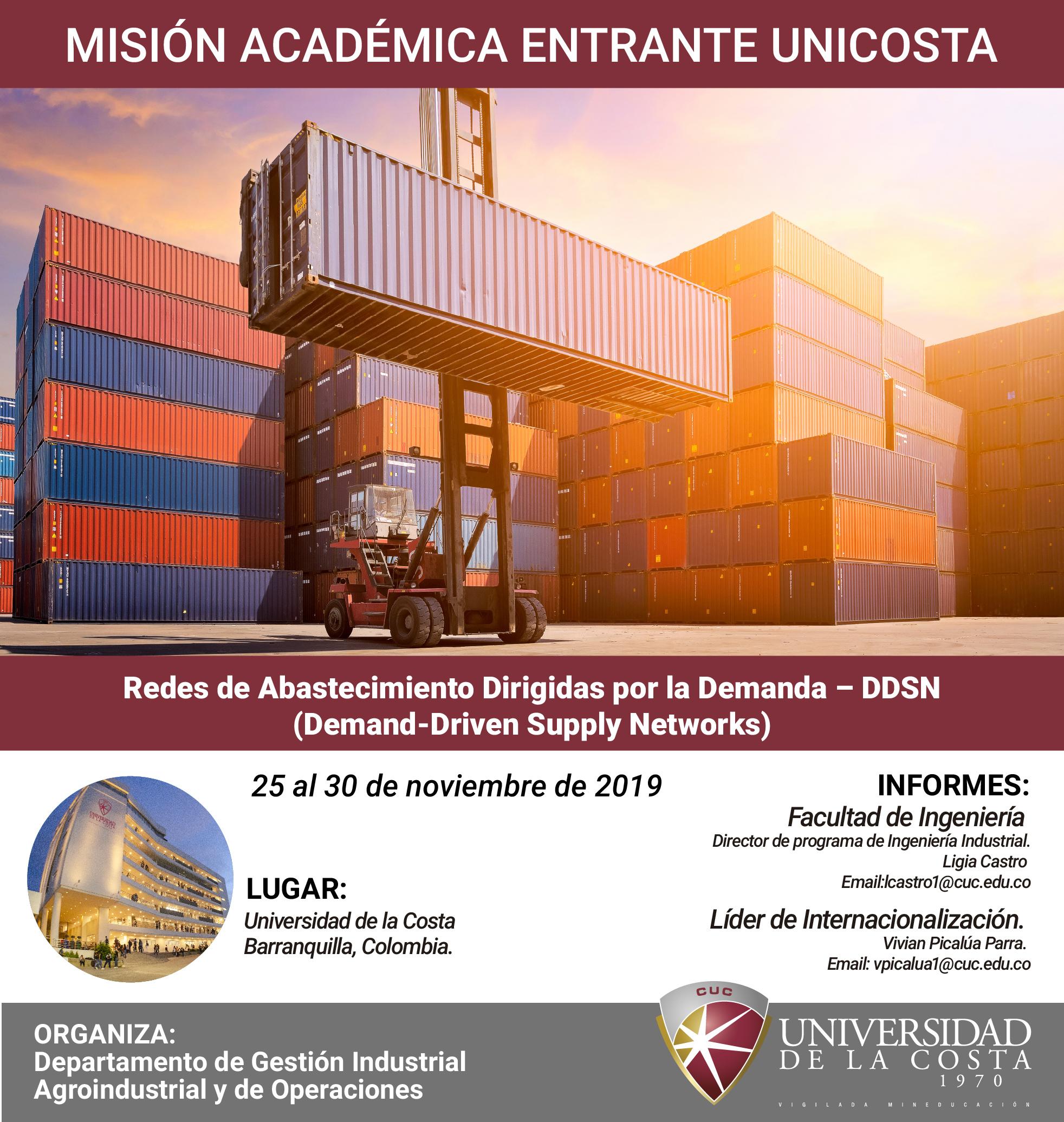 """Misión académica """"Redes de Abastecimiento Dirigidas por la Demanda"""""""