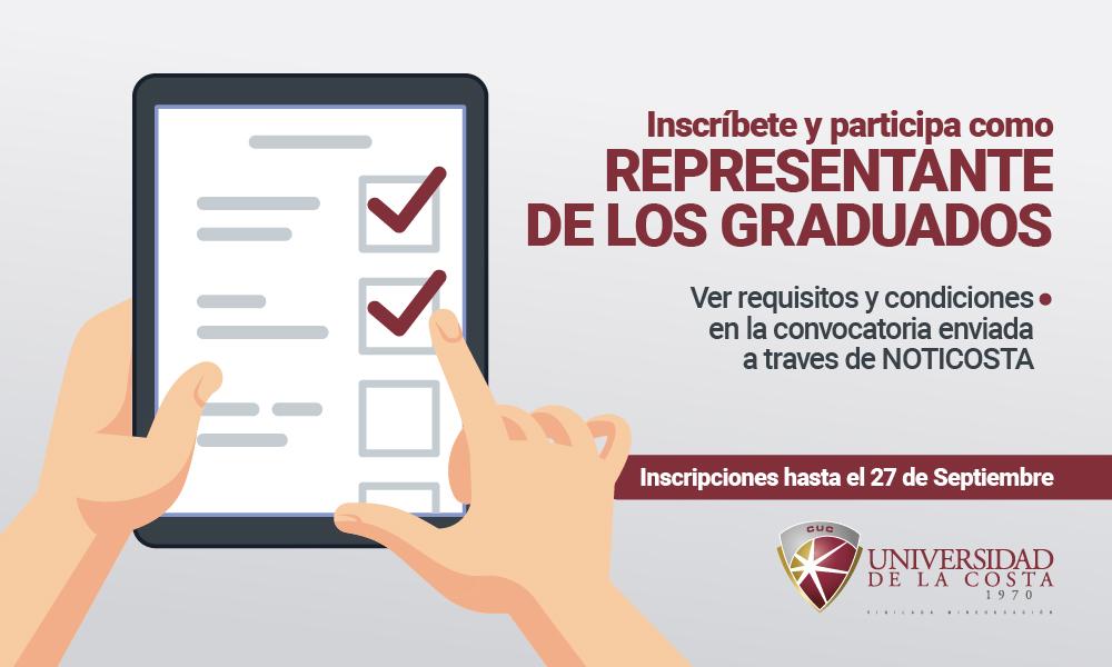 ¡Inscríbete como candidato para ser Representante de los Graduados!