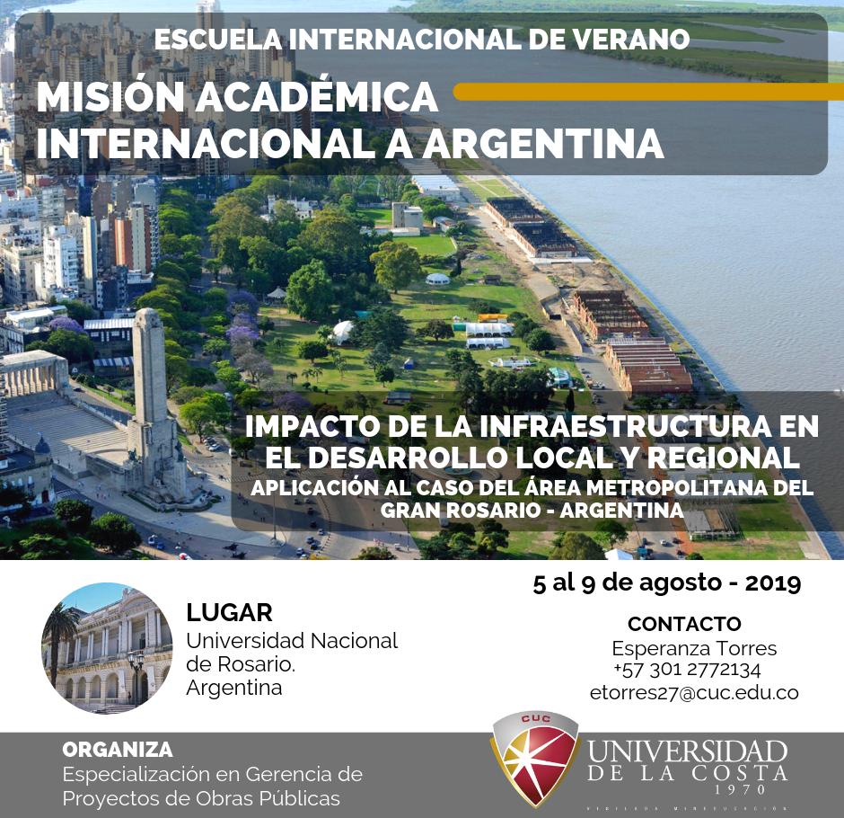 """Misión Académica Internacional """"Impacto de la Infraestructura en el Desarrollo Local y Regional"""""""