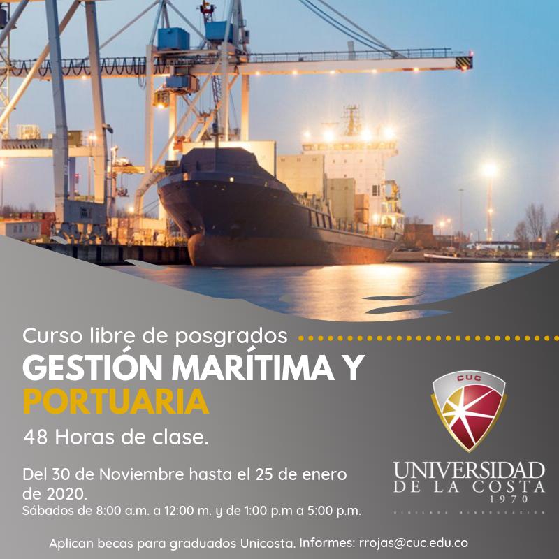 Gestión Maritima y Portuaria - Actualiza tus conocimientos con los cursos libres de Posgrado