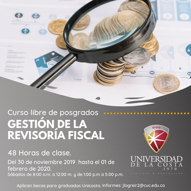 Gestión de la revisoría fiscal - Actualiza tus conocimientos con los cursos libres de Posgrado