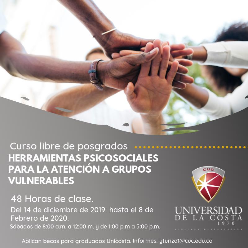 Herramientas psicosociales para la atención a grupos vulnerables - Actualiza tus conocimientos con los cursos libres de Posgrado