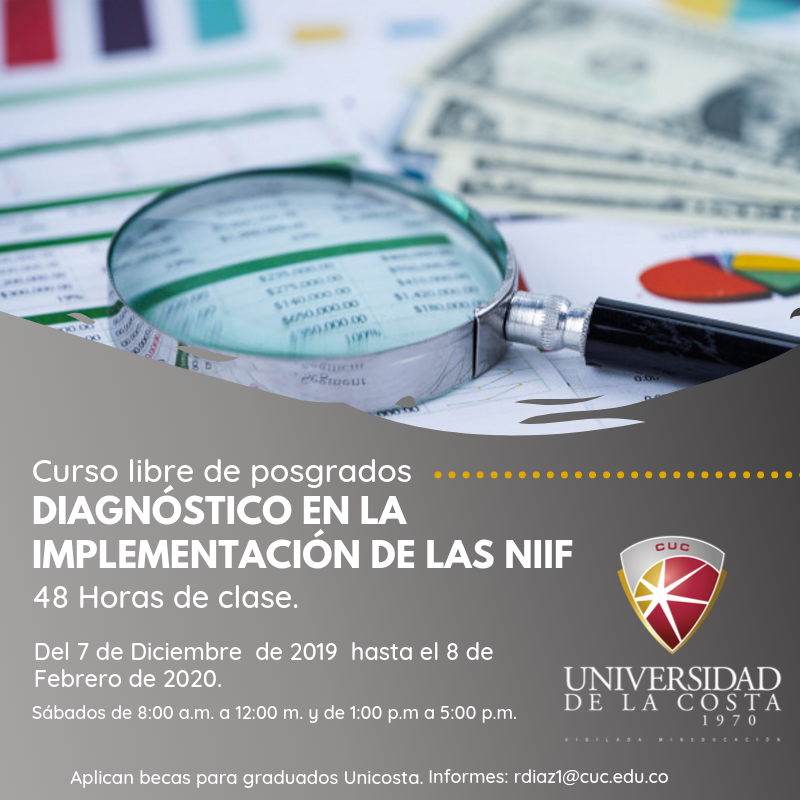Diagnóstico en la implementación de las NIIF - Actualiza tus conocimientos con los cursos libres de Posgrado