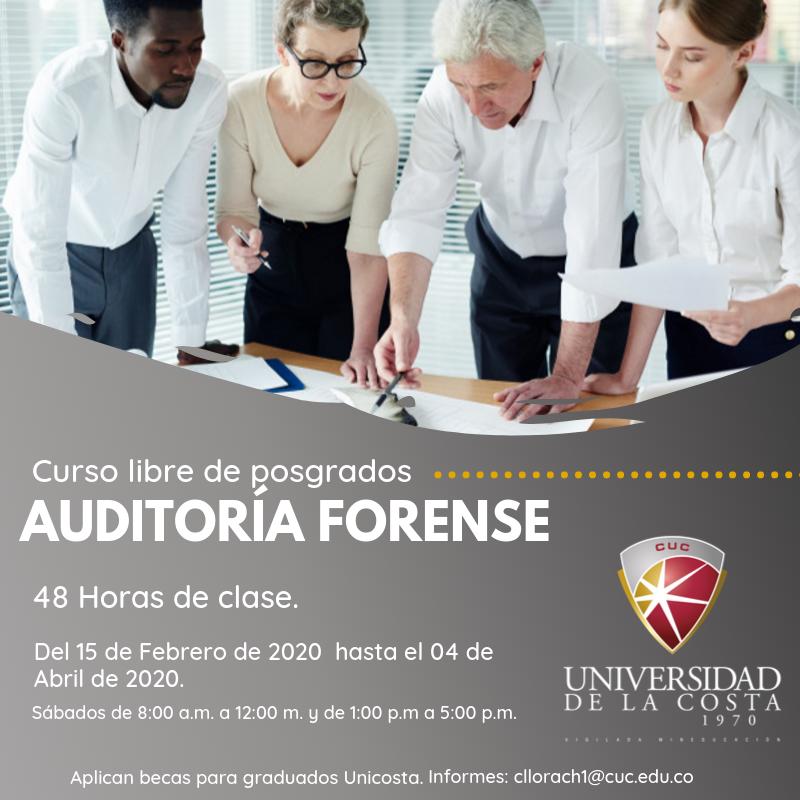 Auditoría Forense - Actualiza tus conocimientos con los cursos libres de Posgrado