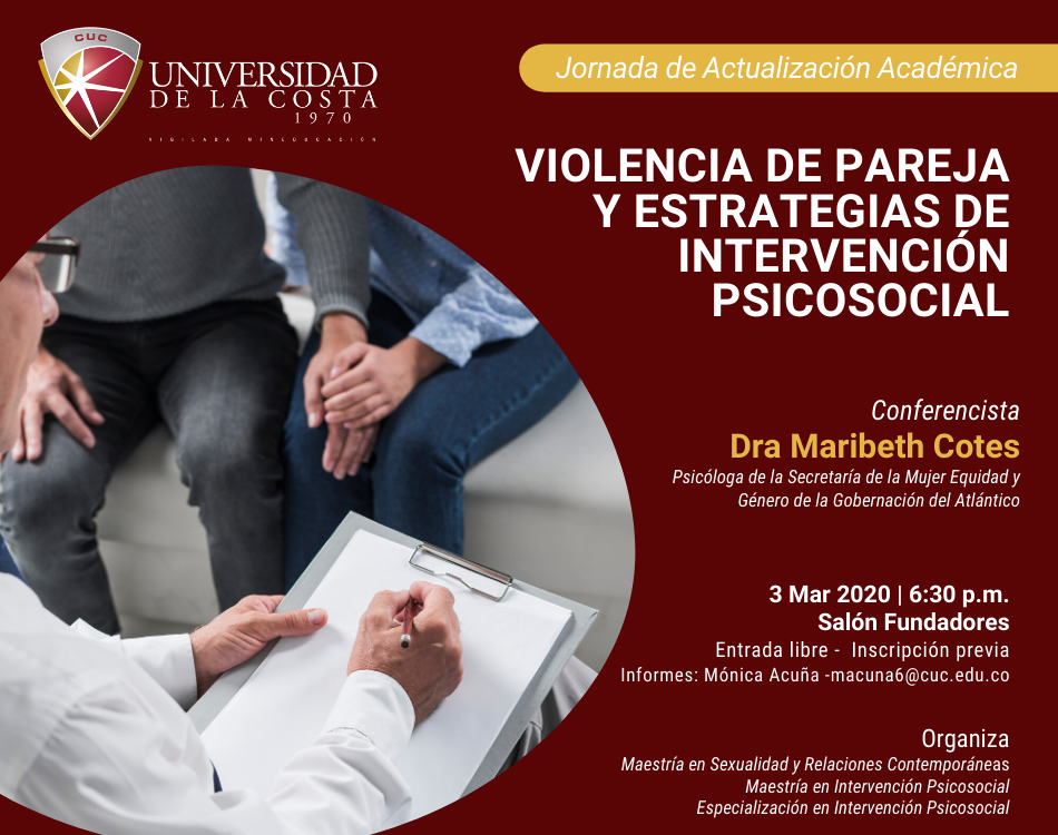 """Jornada de Actualización Académica: """"Violencia de pareja y estrategias de intervención psicosocial"""""""