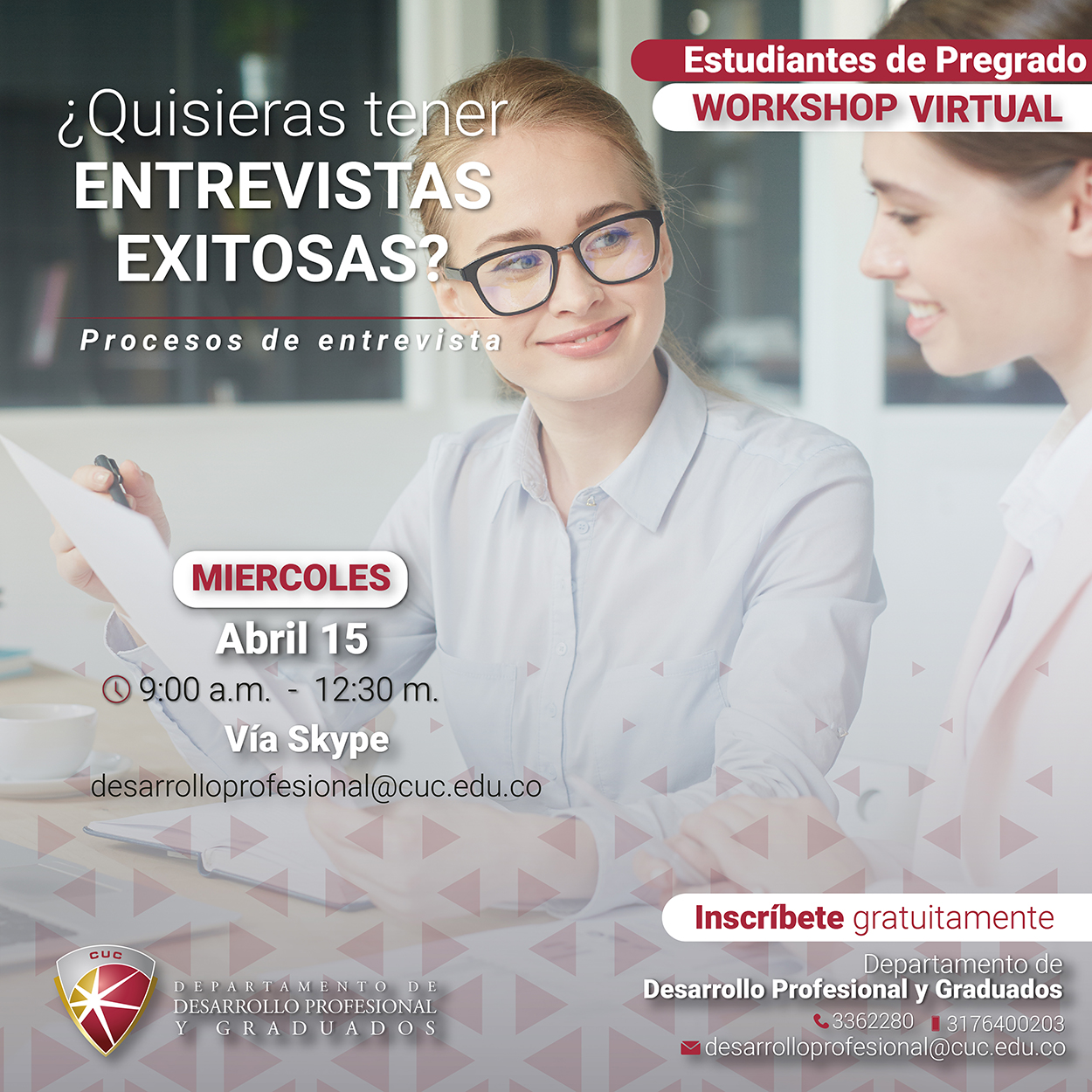 Workshop virtual: 'Entrevistas laborales exitosas'
