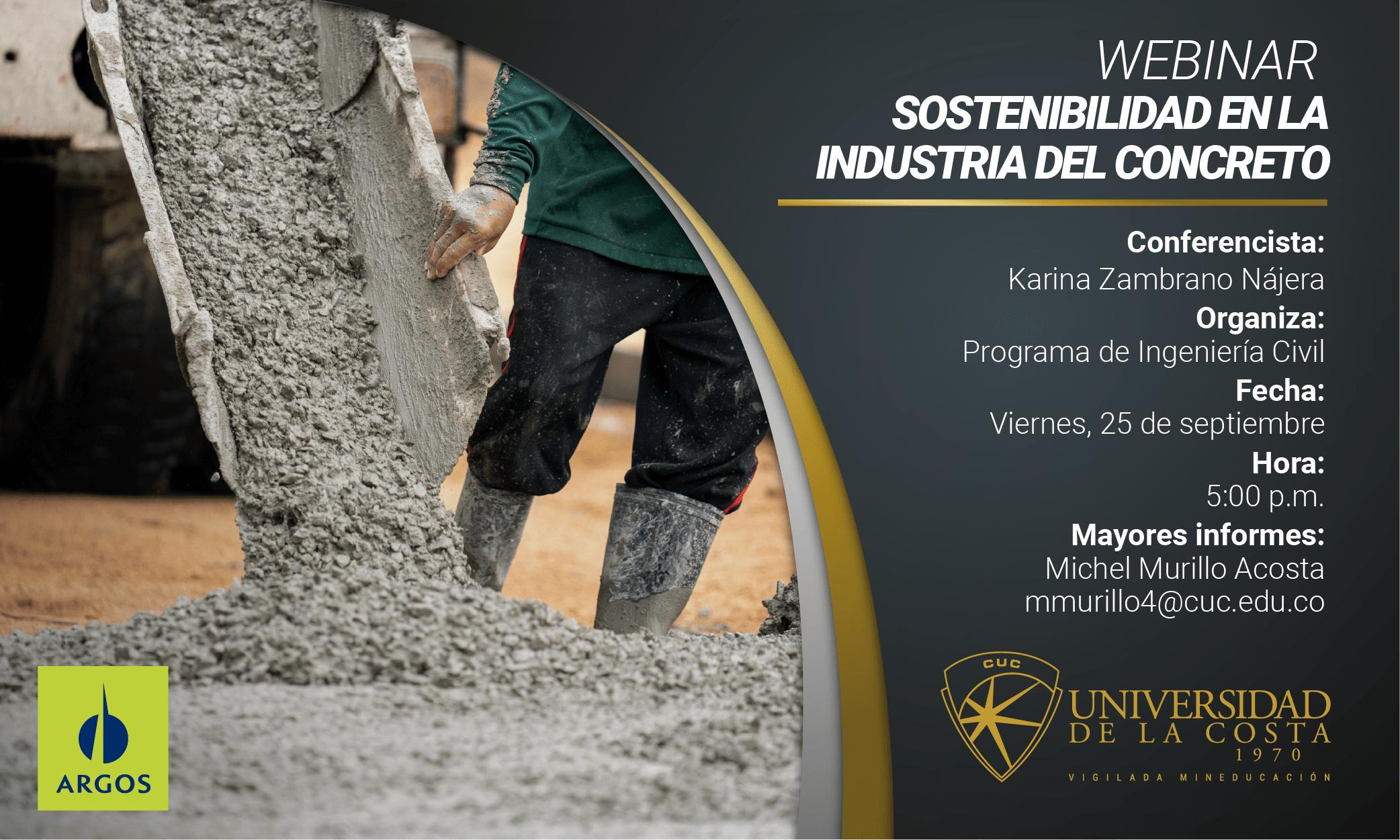 """Webinar """"Sostenibilidad en la industria del concreto"""""""