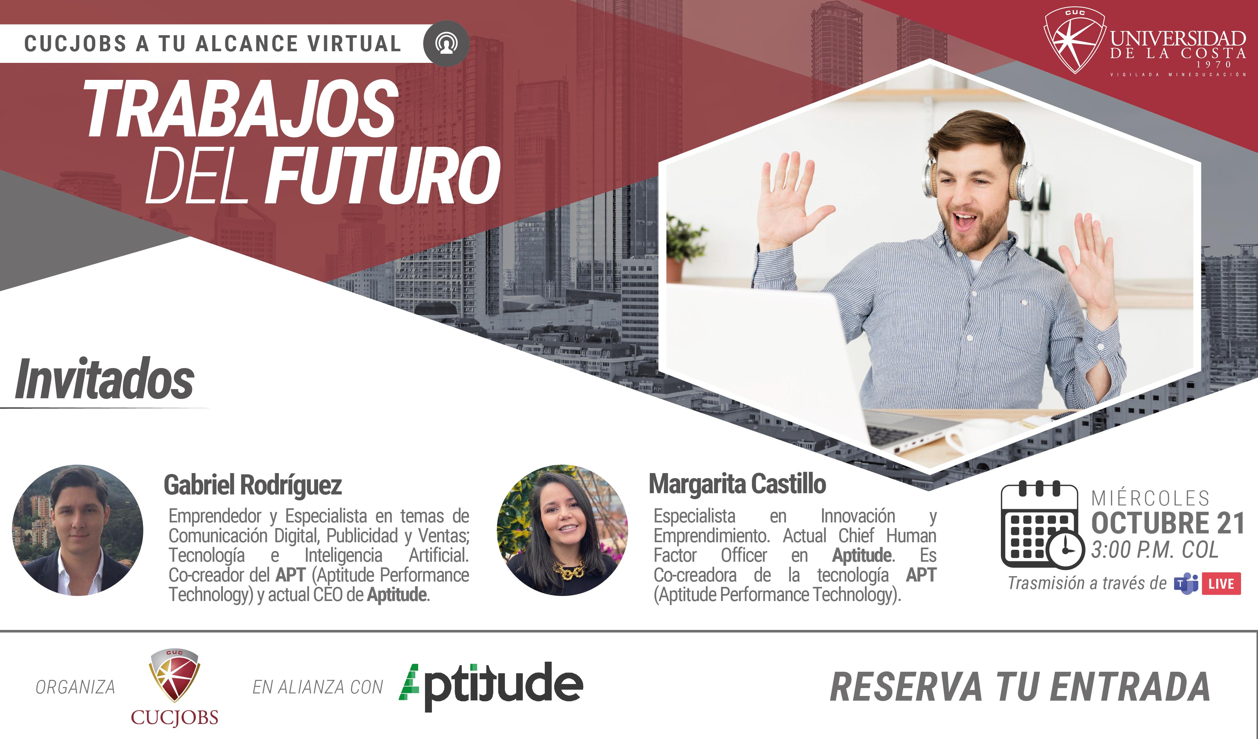 """Cucjobs a tu Alcance Virtual: """"Trabajos del Futuro"""""""