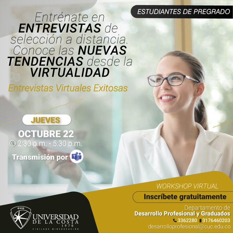 Workshop virtual: 'Entrevistas de selección'
